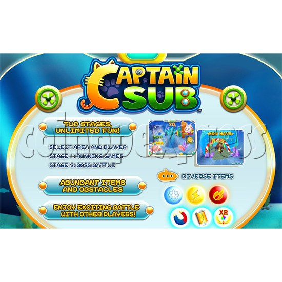 Captain Sub Motion Video Kiddie Ride 34888