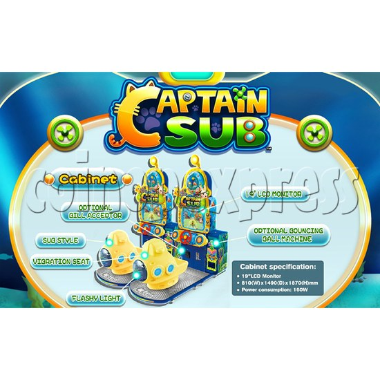 Captain Sub Motion Video Kiddie Ride 34889