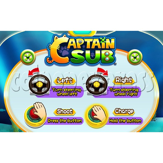 Captain Sub Motion Video Kiddie Ride 34890