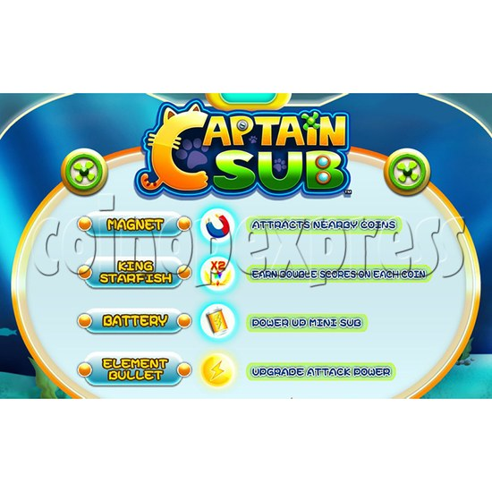 Captain Sub Motion Video Kiddie Ride 34891