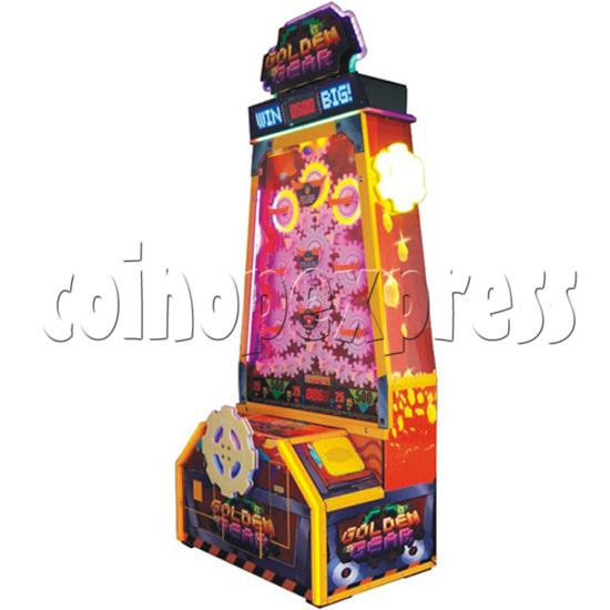 Golden Gear Skill Test Ticket Redemption Arcade Machine - angle view