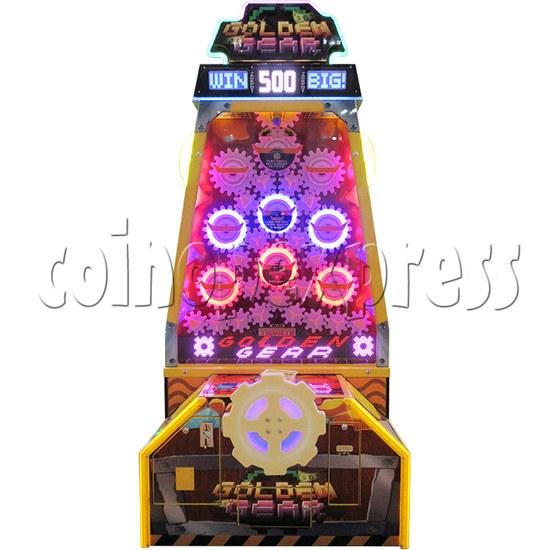Golden Gear Skill Test Ticket Redemption Arcade Machine - front view 2