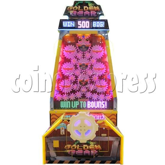 Golden Gear Skill Test Ticket Redemption Arcade Machine - front view 1