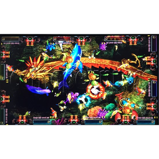 Sea king 2 Tyranngsaurus fish game board kit - game play-1