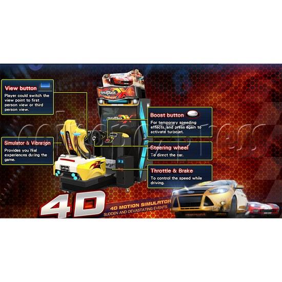 Overtake DX Arcade Driving Game Machine 35294