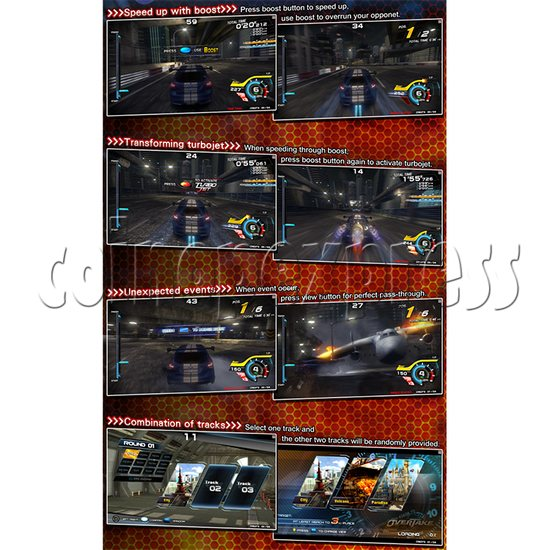 Overtake DX Arcade Driving Game Machine 35296