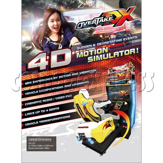 Overtake DX Arcade Driving Game Machine 35297