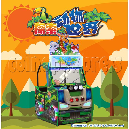 Zoo Explorer Jungle Theme Touch screen Redemption Game Machine 35321