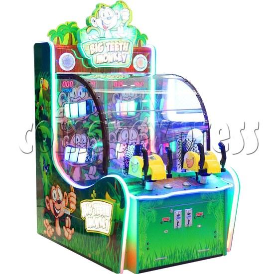Big Teeth Monkey Shooting Game Ticket Redemption Machine - left view