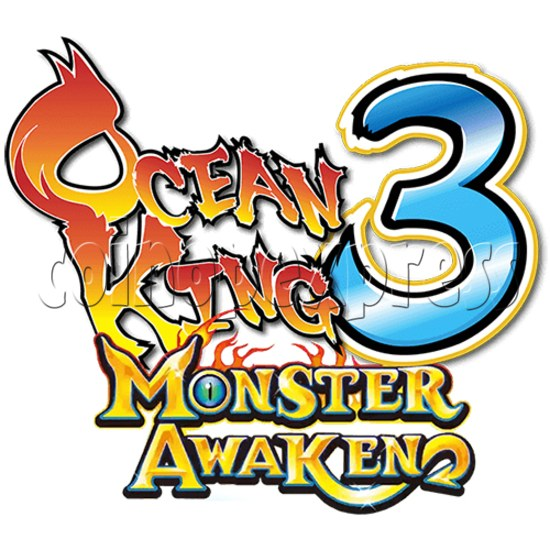 Ocean King 3: Monster Awaken full game board kit - game logo