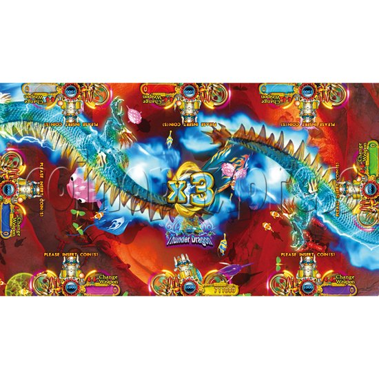 Ocean King 2 Thunder Dragon Video Redemption Fish Hunter Full Game Board Kit China Release Version - game play-1