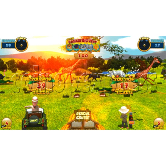 Safari Ranger 2 Player Ticket Redemption Game Machine SD 35873
