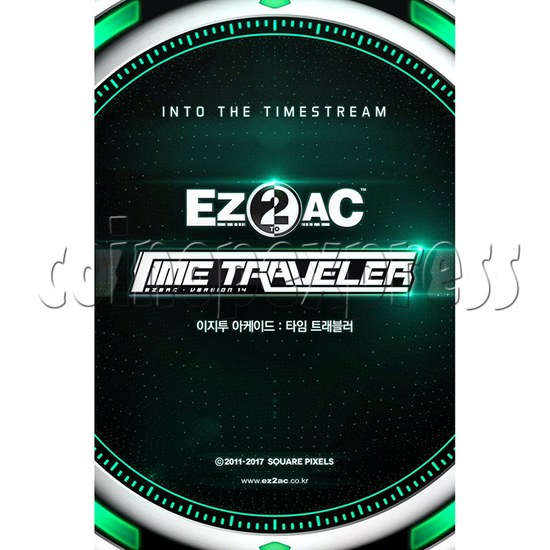 EZ2 AC Time Traveller Full Game Board Kit - Artwork 35989
