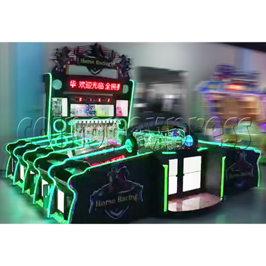 Multiplayer Horse Racing Arcade Game machine 10 players - side view