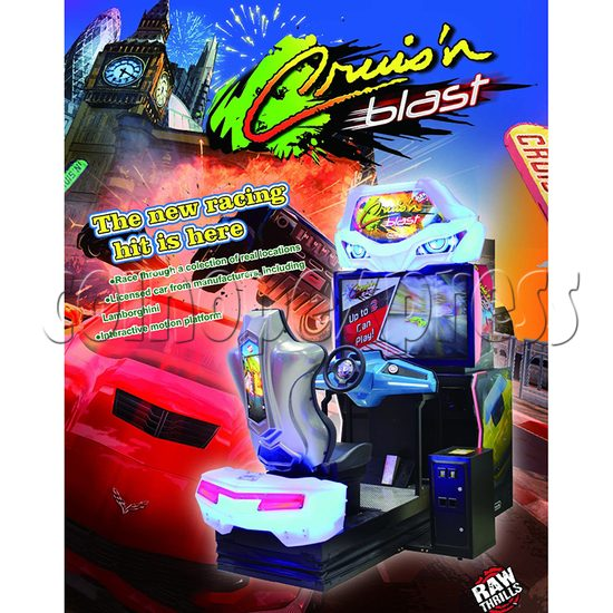 Cruis'n Blast Motion Racing Car Arcade Game machine  36069