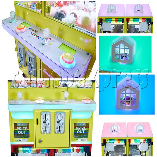 Mini Magic House Crane machine (4 players) 36118
