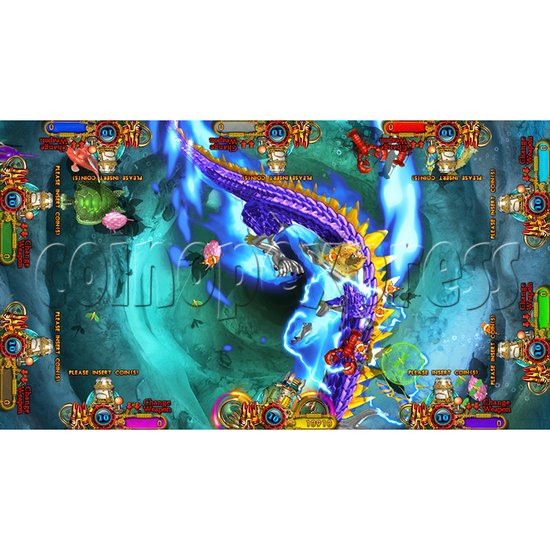 Enchanted Dragon Video Fish Hunter Full Game Board Kit - screen display - 2