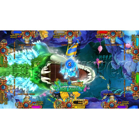 Enchanted Dragon Video Fish Hunter Full Game Board Kit - screen display - 3