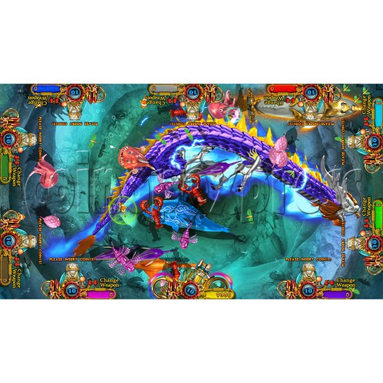 Enchanted Dragon Video Fish Hunter Full Game Board Kit - screen display - 9