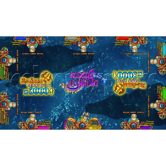 Enchanted Dragon Video Fish Hunter Full Game Board Kit - screen display - 11