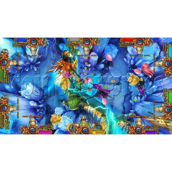 Enchanted Dragon Video Fish Hunter Full Game Board Kit - screen display - 19
