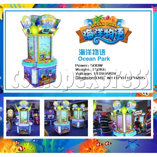 Ocean Park Feeding Fish Redemption Game machine ( 4 players) 36415