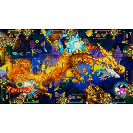 Dragon Slayer Video Fish Game Full Game Board Kit - game play-5