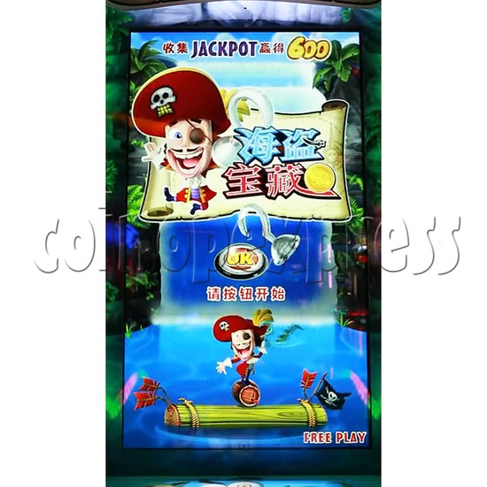 Pirate Falls Skill Test Video Game Machine 36511