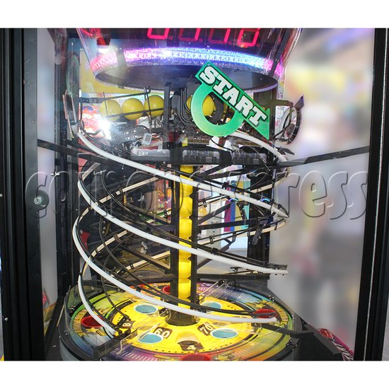 Pacman Swirl Ball Drop Redemption Game Machine ( 4 players) 36774