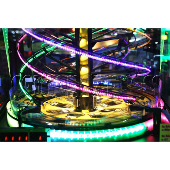 Pacman Swirl Ball Drop Redemption Game Machine ( 4 players) 36777