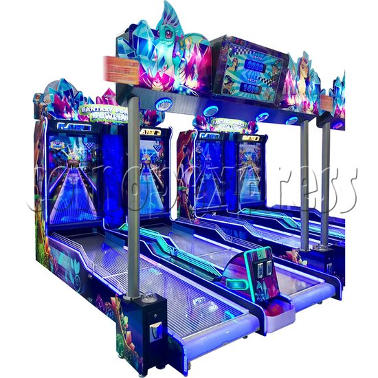 Fantasy Forest Bowling Ticket Redemption Arcade Machine - side view 1