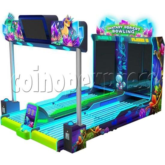 Fantasy Forest Bowling Ticket Redemption Arcade Machine - side view 2
