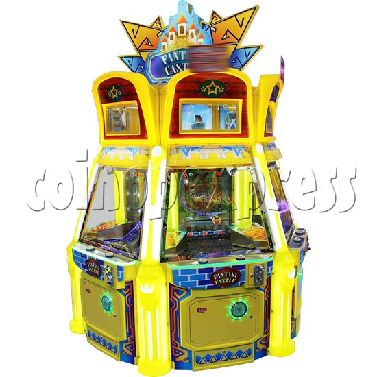 Fantasy Castle Coin Pusher Ticket Redemption Arcade Machine - side view 1