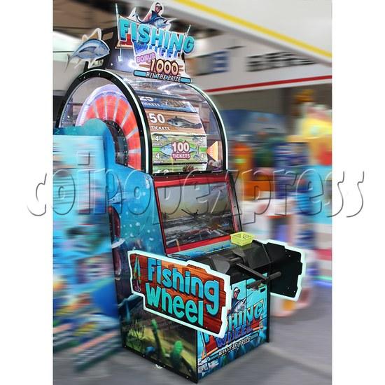 Fishing Wheel Game Ticket Redemption Arcade Machine - side view