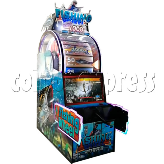 Fishing Wheel Game Ticket Redemption Arcade Machine - left view 2