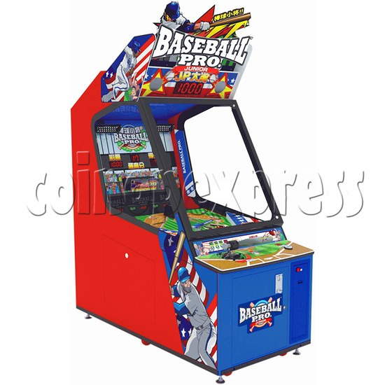 Baseball Pro Junior Ticket Redemption Arcade Machine - left view