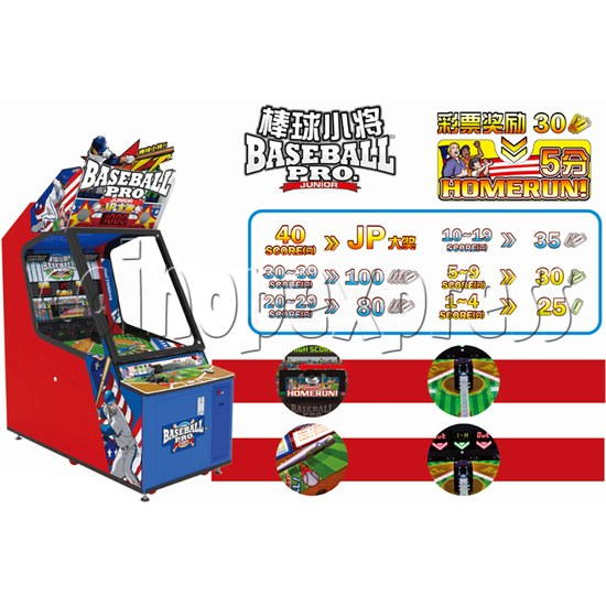 Baseball Pro Junior Ticket Redemption Arcade Machine - how to play