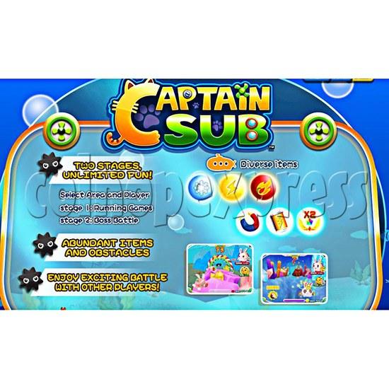 Captain Sub Video Driving Kiddie Ride  37123