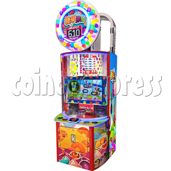 Candy Fall Skill Test Ticket Redemption Arcade Machine - right view
