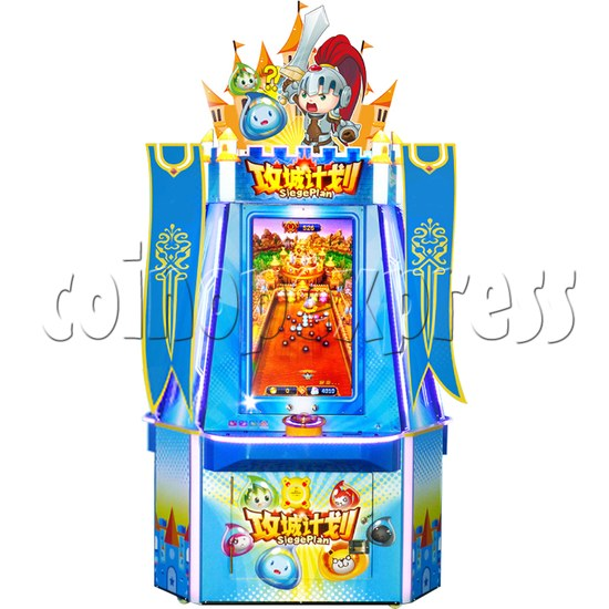 Siege Plan Funny Ball Ticket Redemption Arcade Game 3 players - front view