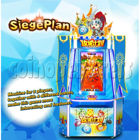 Siege Plan Funny Ball Ticket Redemption Arcade Game 3 players - catalogue