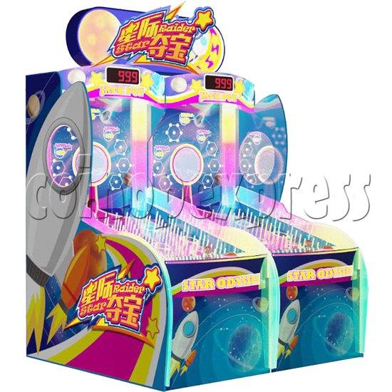 Star Raider Funny Ball Ticket Redemption Arcade Machine - left view 2