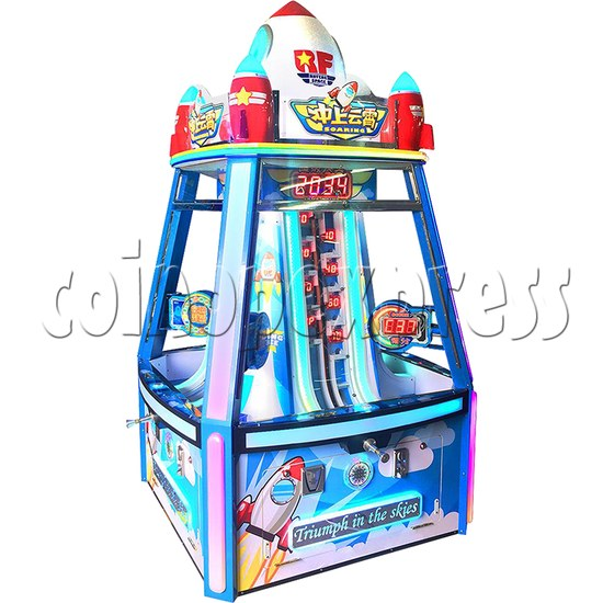 Triumph in The Sky Ticket Redemption Arcade Machine 4 Players - side view