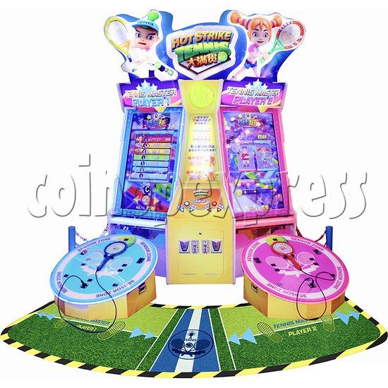 Hot Strike Tennis Ticket Redemption Arcade Machine 2 Players - front view
