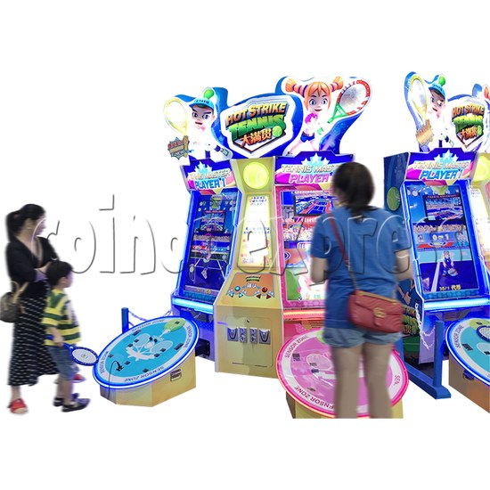 Hot Strike Tennis Ticket Redemption Arcade Machine 2 Players - play view 3