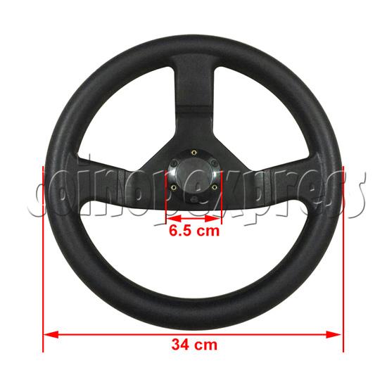 Steering Wheel for Arcade Racing Video Game Machine 37609