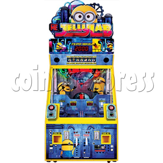 Despicable Me Jelly Lab Coin Roll Down Arcade Game machine 37686
