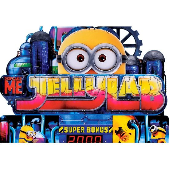 Despicable Me Jelly Lab Coin Roll Down Arcade Game machine 37688