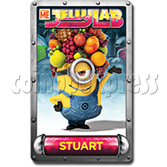 Despicable Me Jelly Lab Coin Roll Down Arcade Game machine 37696