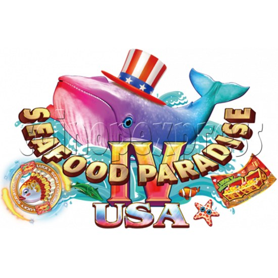 Seafood Paradise 4 USA Edition Fishing Game Full Game Board Kit - game logo